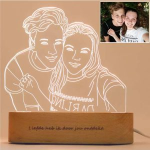 Personalized Portrait LED Night Lamp Display, Personalized Photo Lamp
