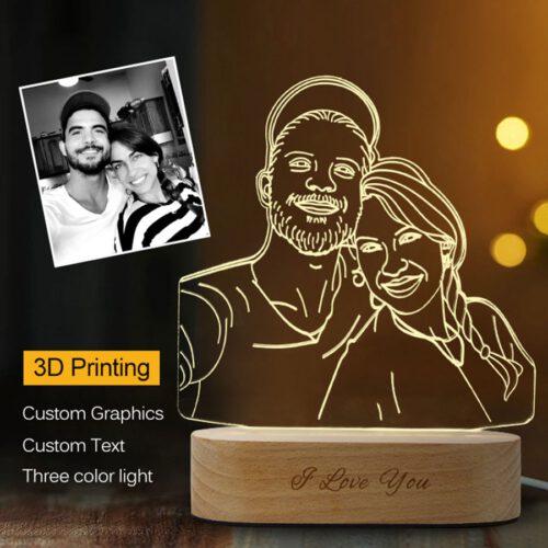 Custom photo lamp_Personalized Portrait LED Night Lamp Display, Personalized Photo Lamp