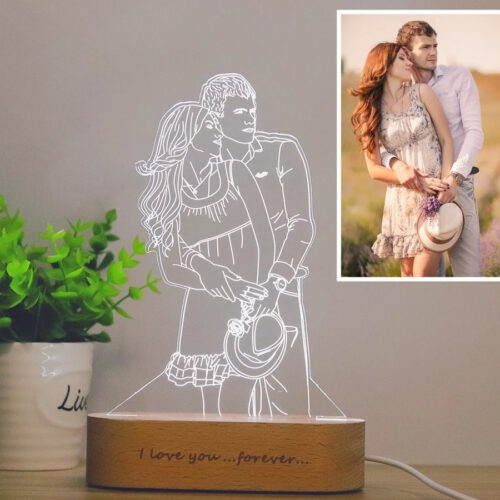 Personalized Portrait LED Night Lamp Display