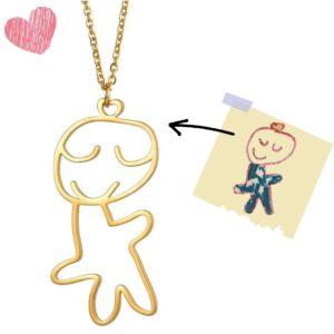 Custom Drafted Child's Drawing Necklace