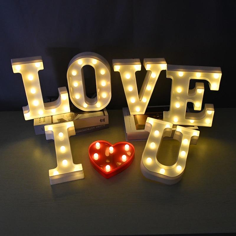 Luminous Large LED Letter Lights