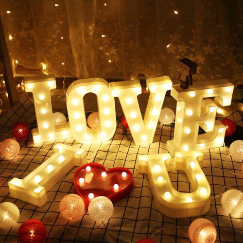 LED Letter Lights I love U_RollnFlip