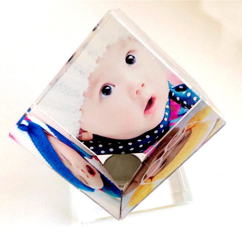 Custom Spinning Photo Crystal Cube_rollnFlip