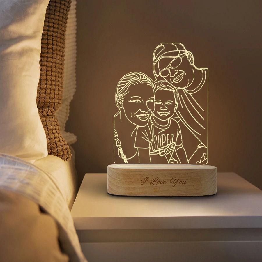 custom photo desk lamp
