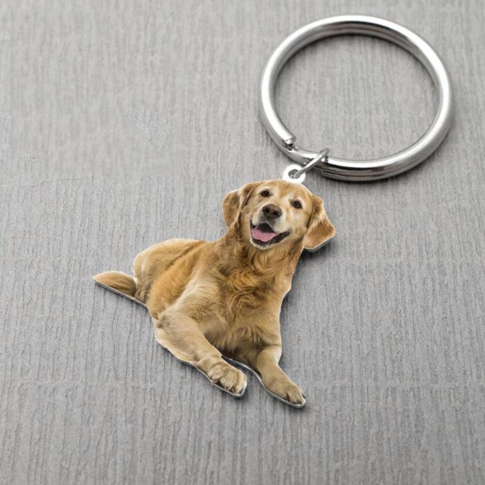 pet dog keychain (color finish)