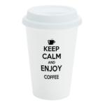 White Custom Travel Mug