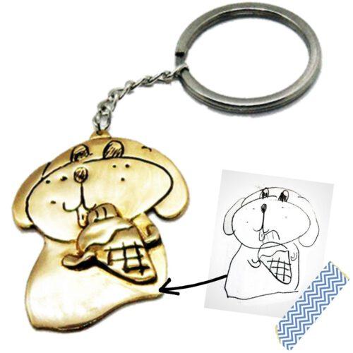 Turn Child's Drawing into Custom Keychain