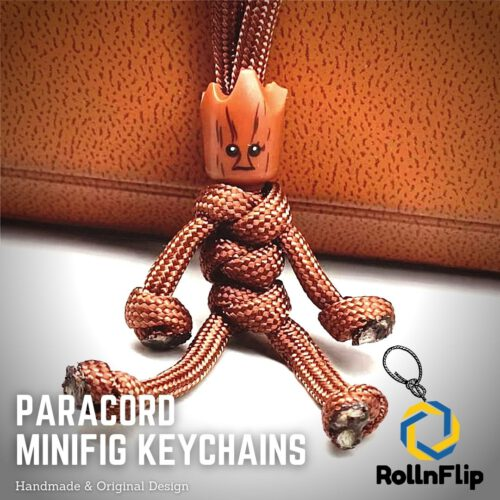 Groot Paracord Minifig Keychain