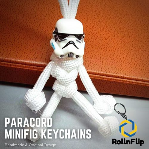 Stormtrooper Paracord Minifig Keychain