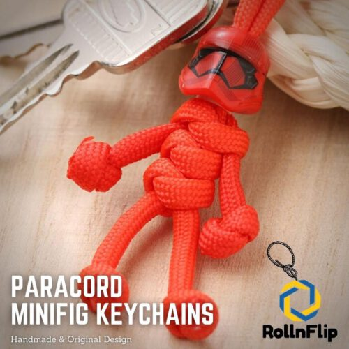 Red Stormtrooper Paracord Minifig Keychain