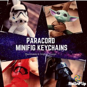 Paracord Minifig Keychain - Space Battlefront