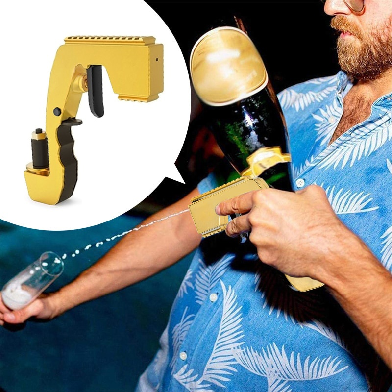 2-in-1 Wine Stopper & Champagne Sprayer for wine shooting