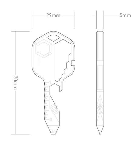 24-in-1 Compact Key Multi-Tool Measurement