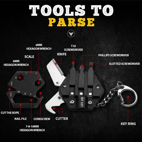 14-in-1 Multi-tool Keychain