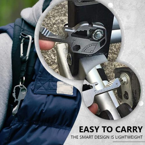 24-in-1 Compact Key Multi-Tool Easy to Carry
