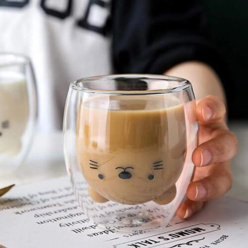 Lovely Pet Double Wall Glass Mug_cover